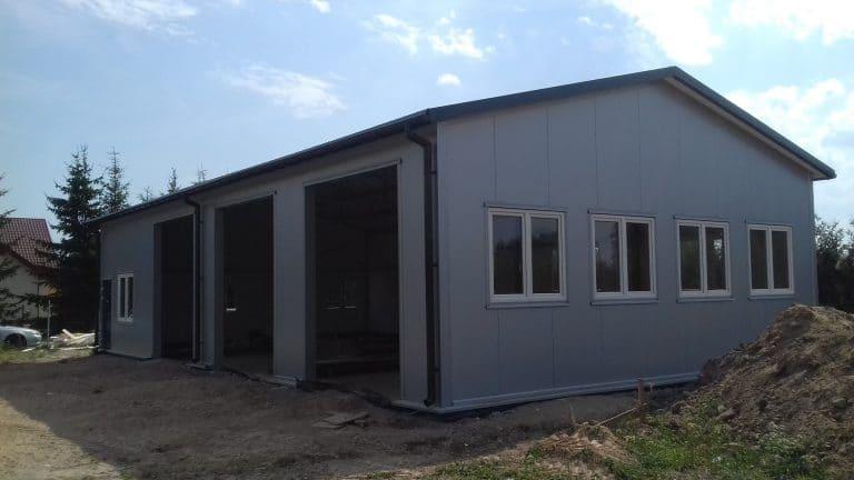 Garaż, hala, konstrukcje stalowe, kompleksowe budowanie.